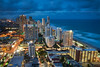 gold coast at dusk (Pawel Papis Photography) Tags: city light sky urban cloud building water skyline architecture skyscraper evening twilight downtown cityscape view dusk wave australia landmark aerial highrise queensland goldcoast