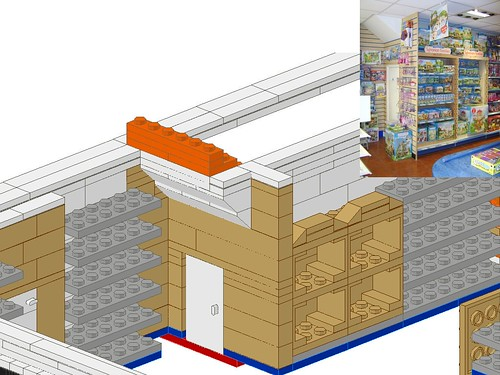 Work In Progress - LEGO® 'Loyds Toys' Toy Shop Sylvanian Families Stands