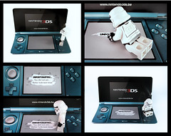 No 3D for Stormi (designholic*) Tags: starwars lego nintendo lucky disappointed stormtrooper minifig luckyday nintendo3ds scratchandwinticket