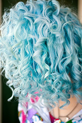 Day 90 of 365 - Year 2 (wisely-chosen) Tags: selfportrait me february canon50mmf18 bluehair cameraraw 2011 365days naturallycurlyhair manicpanicbadboyblue curlformers adobephotoshopcs5extended herbalessencestouslemesoftlyconditioner curllifebymatrixdefiningsystemcontourcream proclaimarganoilhairoiltreatment