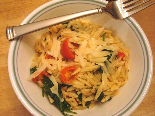Garlic Chicken Orzo