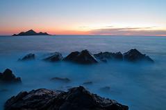 BrUmE_2 (Cervetti Julien) Tags: sea mer pose island soleil ile lente ajaccio rocher brume sanguinaire couche