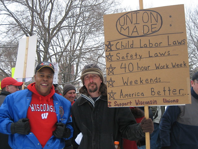 Pictures from Michigan 'Save the American Dream'/Wisconsin Solidarity Rally 2/26