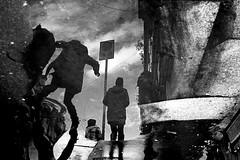 (Donato Buccella / sibemolle) Tags: street blackandwhite bw italy milan reflection chinatown milano puddles pozzanghera moscova sibemolle ravanandonellarchivio mg7415 letiziapulisciitombini lacannucciatelaregaliamonoi