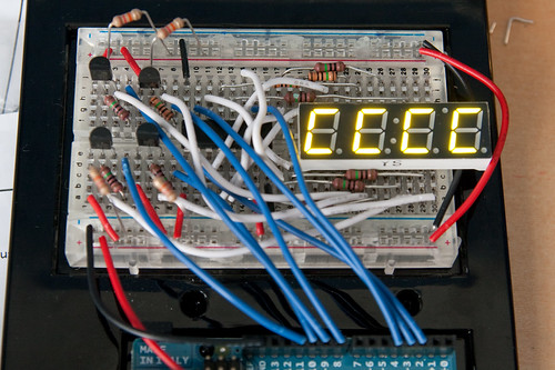 Four digit, seven segment display setup