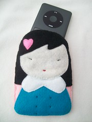 Harajuku Girl Electronics Case (LookHappyShop) Tags: camera ipod cellphone felt case gift electronics harajuku kawaii