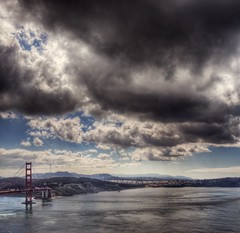 New Bay (Kevin MacLeod (unranged.com)) Tags: ocean sf sanfrancisco california bridge sea water landscape bay nikon goldengatebridge goldengate bayarea marincounty hdr marinheadlands photomatix nikond200 kevinmacleod unrangedcom unranged