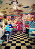 Back to the 50s (SOMETHiNG MONUMENTAL) Tags: pink canon vintage restaurant cafe teal indianapolis indiana diner retro cocacola checkerboard memorabilia g11 somethingmonumental mandycrandell