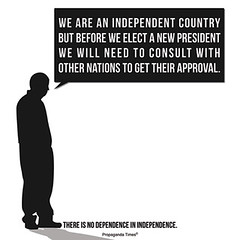 There is no Dependence in Independence (PropagandaTimes) Tags: modern propaganda posters jpg independence dependence gupr propagandatimes