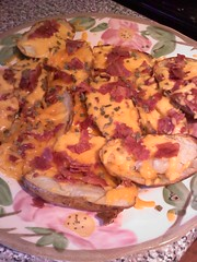 Oven Cheesy Potato Skins