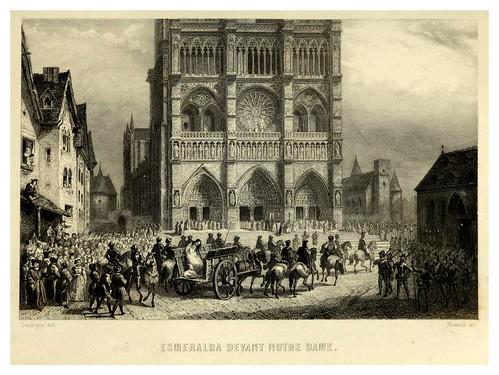 025-Esmeralda ante la catedral-Notre-Dame de Paris 1844- edicion Perrotin Garnier Frères