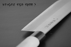 anyone for sushi? (arrowlili) Tags: canon sushi asian japanese knife sharp font blade lettering script razor odc cleaver tamron70300mm canoneos50d ourdailychallange