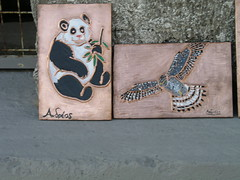 THE PANDA AND THE EAGLE (Paco Chalkini's) Tags: paint panda flickr copper paco eagel