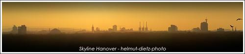 Skyline Hanover - Hannover bei Sonnenuntergang