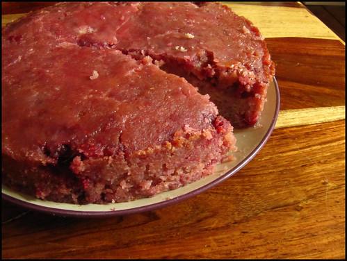 rasberry and polenta cake