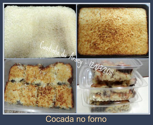 Cocada no forno by Cantinho da Aracy