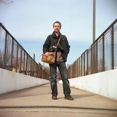Sean (patrickjoust) Tags: street city bridge portrait people urban usa color 120 6x6 tlr film analog america square lens person us reflex md focus photographer mechanical kodak united meta north patrick photographers twin maryland pedestrian super baltimore sean route v pro epson medium format 40 states manual 500 expired 80 joust kerr estados 160 80mm f35 c41 unidos ricohflex v500 ektacolor autaut patrickjoust