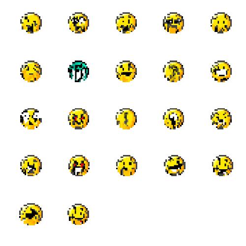 Glitch smilies
