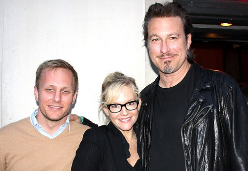 Robbie Pickering and Rachael Harris of Natural Selection with John Corbett