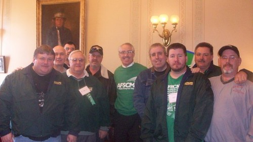 Randy Hopper rockin' the AFSCME shirt