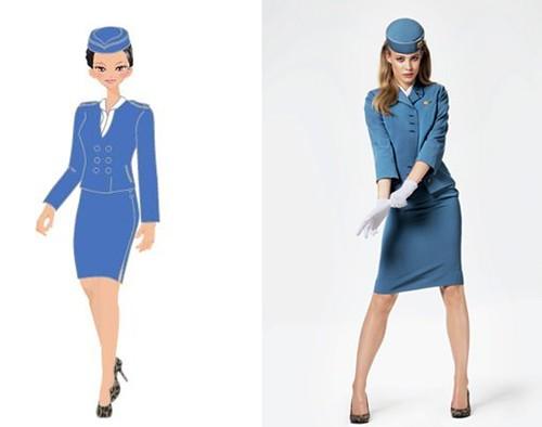 Pan Am Stewardess Uniform