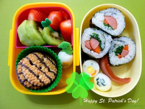 St. Patrick's Day Bento