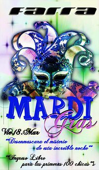 Mardi Gras Party - Farra Disco Club