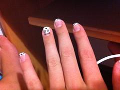 Unhas panda *-* (@juh__campos) Tags: big panda nail bonita hits impala risque unha colorama francesinha