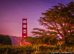 Golden Gate Sunset (Silent G Photography) Tags: sf sanfrancisco california ca sunset blur traffic bokeh bracket goldengatebridge bayarea bakerbeach hdr lightroom photomatix lincolnstreet tonemapping colorphotoaward ononesoftware highdynamicrangephotography nikond7000 nikkor1635mmf4 markgvazdinskas silentgphotography reallyrightstuffllc