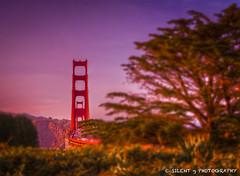 Golden Gate Sunset (Silent G Photography) Tags: sf sanfrancisco california ca sunset blur traffic bokeh bracket goldengatebridge bayarea bakerbeach hdr lightroom photomatix lincolnstreet tonemapping colorphotoaward ononesoftware highdynamicrangephotography nikond7000 nikkor1635mmf4 markgvazdinskas silentgphotography reallyrightstuffllc