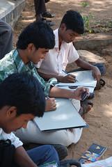 art class (microgardener) Tags: tamilnadu monoliths mahabalipuram firstdownloadindia
