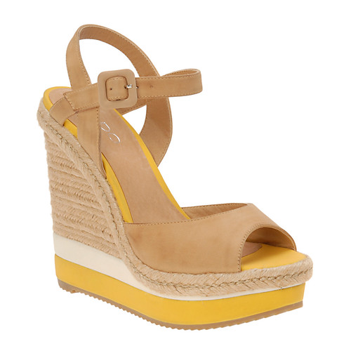 yellow espadrilles, yellow and white espadrille wedge sandals, shoes, aldo shoes, espadrille wedges, 26_dyle_68_6