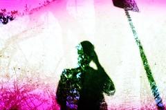 (glhrmoura) Tags: camera pink trees light shadow woman black tree film silhouette sign hands exposure cross pentax k1000 kodak slide sombra double chrome 100 positive leak ektachrome processed e100vs overlap silhueta