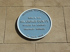 Photo of George Dowty blue plaque