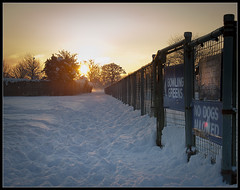 Bowling greens, HFF! (Ianmoran1970) Tags: sunset snow fence hff ianmoran ianmoran1970