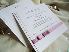 Elegance Wedding Invitations (love2print) Tags: ribbon bows diamantes duskypink handmadeweddinginvitations bowweddinginvitations