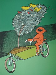 the bird machine poster (@WorkCycles) Tags: amsterdam bike bicycle poster bakfiets birdmachine transportfiets workcycles