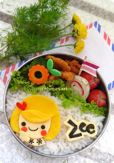 Pretty Girl Bento for Zee's Birthday