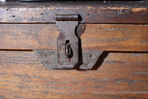 Antique distressed furniture wood trunk SOLD