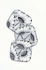 Bouquet (Jo in NZ) Tags: pen ink drawing line zentangle nzjo zendoodle