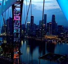Dusk @ Singapore Flyer (@mons.always) Tags: travel blue singapore asia dusk sony citylights singaporeflyer dsch7