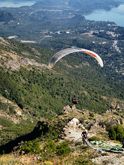 And Away They Go [Paragliding from Cerro Otto, Bariloche, Argentina] by katiemetz, on Flickr