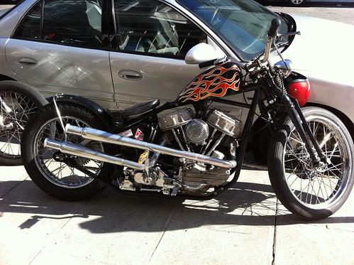 Insane Panhead chopper!!