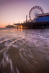Santa Monica Pier (Karl Erik Vasslag Photography) Tags: santamonicapier santamonicabeach beach wave losangeles california socalsouthern californiasanta monicaamusement parkpieroceanlasanmosunsetlandscaped810seascapesuncolorspacific oceanseapacific parksetting sunwest coastlos angeles countyusaunited stateslong exposure