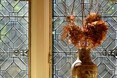 Afternoon Light (KaDeWeGirl) Tags: newyorkstate suffolk county long island bayard cutting arboretum state park window vase dried flowers national register historic places shadow light