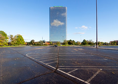 _A094816 (elsuperbob) Tags: southfield michigan detroit architecture modernism glass steel empty parkinglots americancenter americanmotorcorporation amc skyscrapers newtopographics