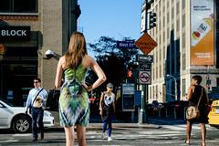 3/1 (Cedpics) Tags: nyc street newyork usa rue pieton sidewalk manhattan fujixpro1 woman back pedestrians