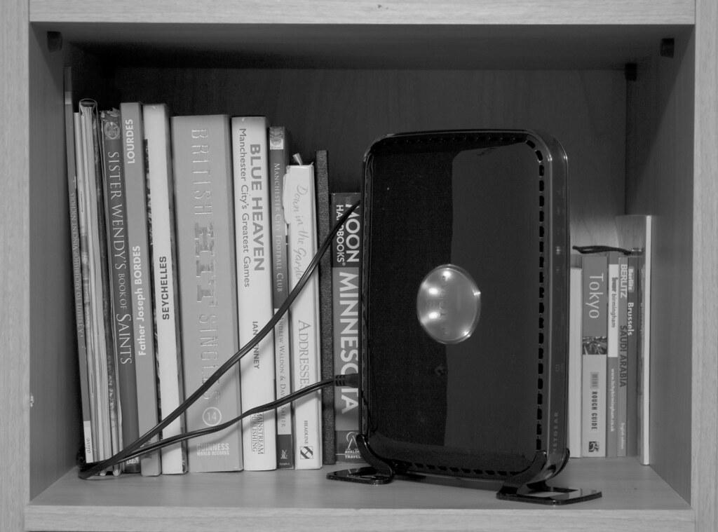 025 365 Home modem-router bookshelf