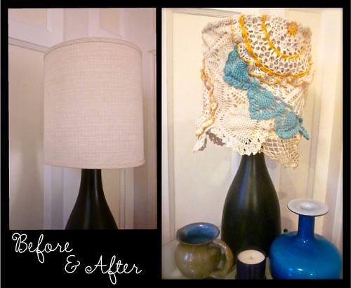 le doily lamp