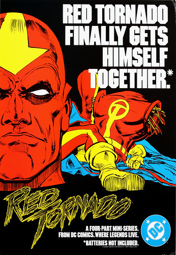 DC Comics promotional poster - Red Tornado - 1985